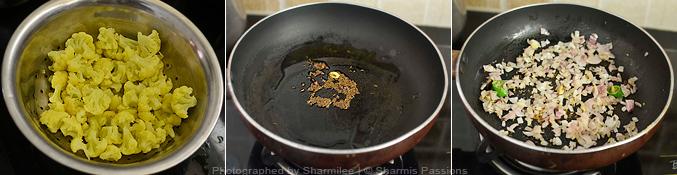How to make gobi masala - Step1