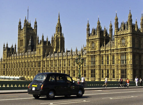 Photo:Westminster Palace and London Cab By:docoverachiever