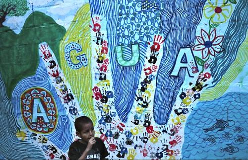 Mural elaborado por la comunidad de la vereda Rojas en Sopetrán