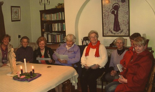 The Mill Road Prayer Group meet each Thursday evening. Pictured at the Prayer Group are Nuala McCluskey SSL (2nd from left), Anita Morley SSL (4th from left) and Hannah Boylan (3rd from right)