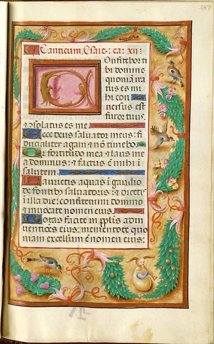 023-Primera pagina de Cantica-247 recto-GKS 1605 4 º Salterio - 1500-1535- The Royal Library