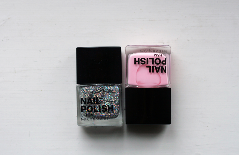 nailpolish glitter, matte pink