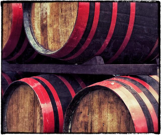 Whiskey Barrels. Tomnavoulin Distillery.
