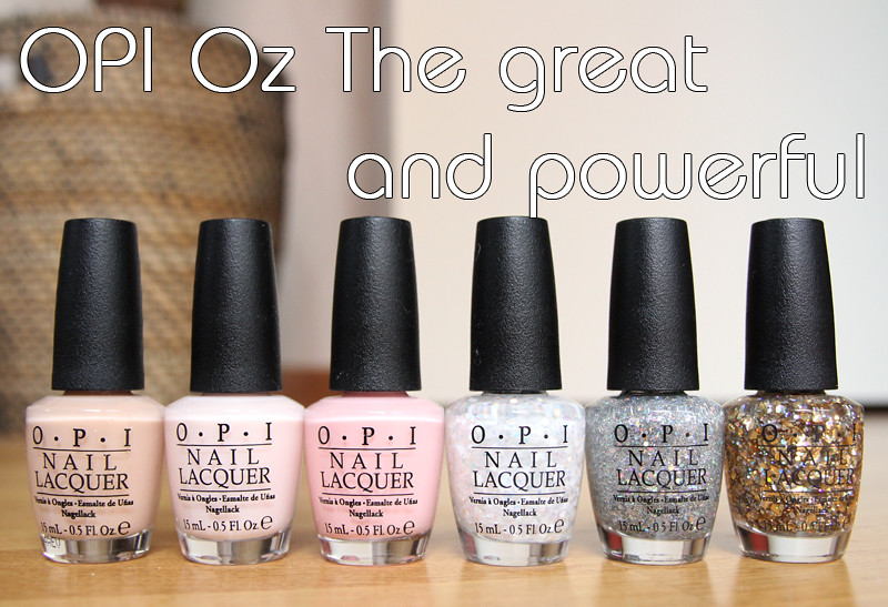 OPI Oz the great and powerful bottles