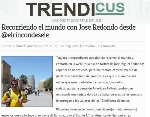 Entrevista en Trendicus