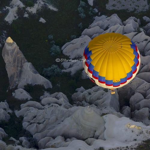 türkiye balloon globo anatolia turquía kapadokya capadocia nevşehir üçhisar pilarazañatalán asíamenor copyright©pilarazañatalán