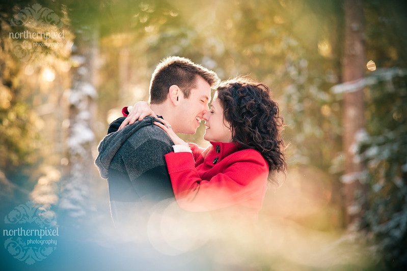 Snowy Winter Engagement Session Prince George BC