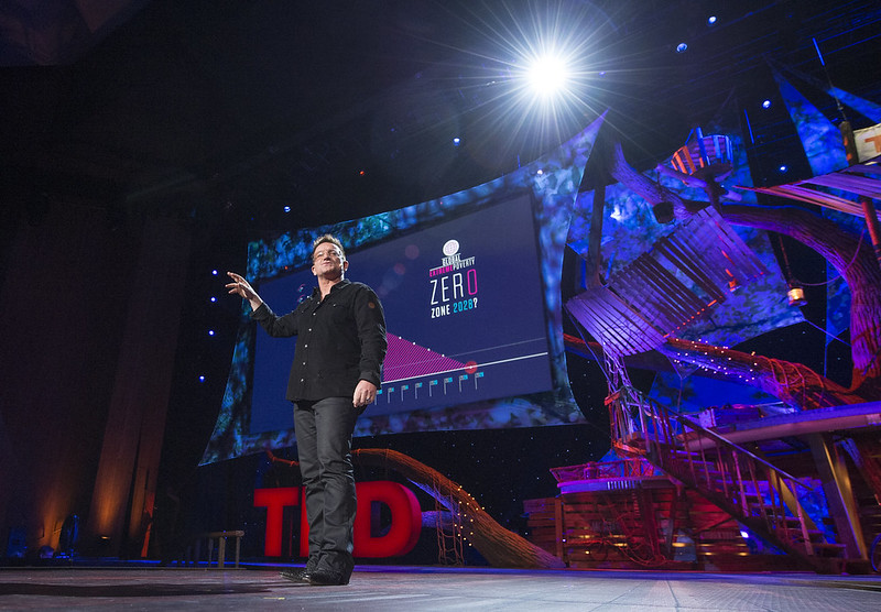 Bono at TED: Eliminating poverty is possible by 2030