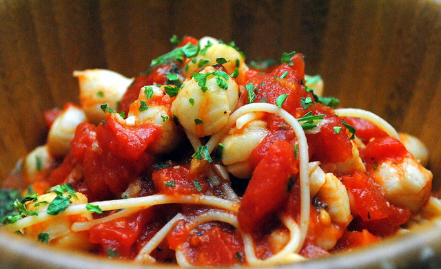 Scallops and Tomatoes with Angel Hair Pasta | Crazy Jamie