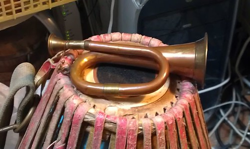 A toy trumpet  Made in India.  by Kanda Mori