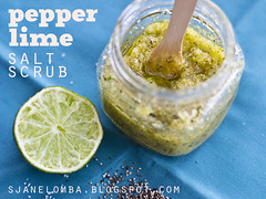 Pepper Lime Salt Scrub DIY