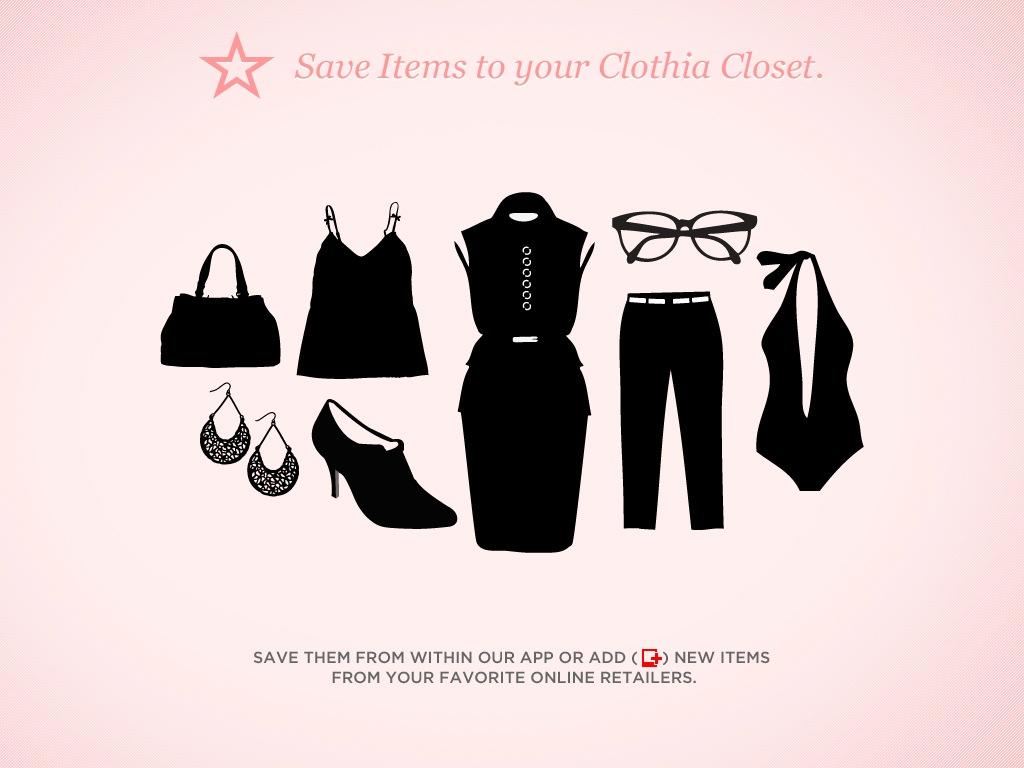 clothia ta garde robe dans ton ipad le cahier. Black Bedroom Furniture Sets. Home Design Ideas