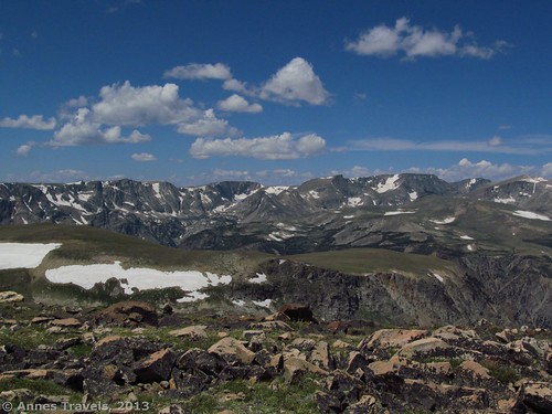 View from Wymont Peak along the Beartooth Highway, Shoshone National Forest, Wyoming