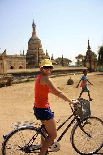 Biking was a popular way to get around Bagan. Although it's not recommended for the day.