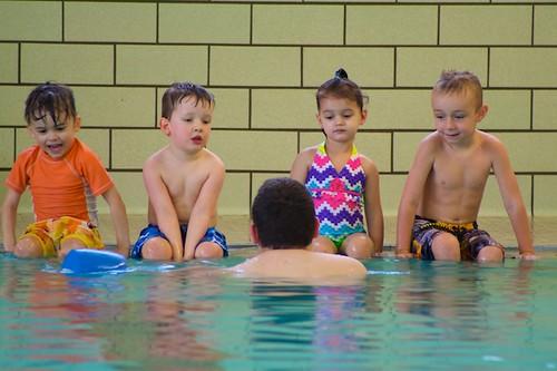 Lincoln @ swimming lesson
