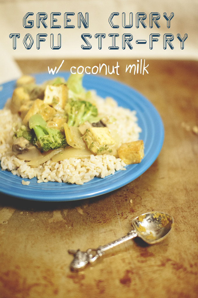 neverhomemaker: Green Curry Tofu Stir-Fry