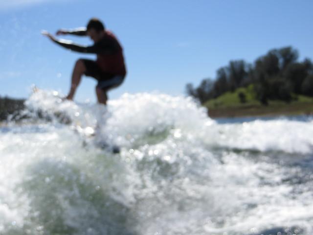 Mid March Wakesurfing 413