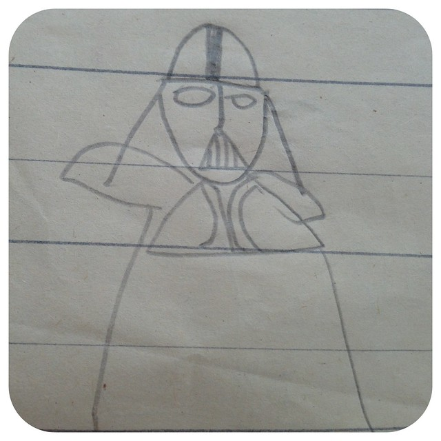 Darth Vader by my husband, when he was 4 :)