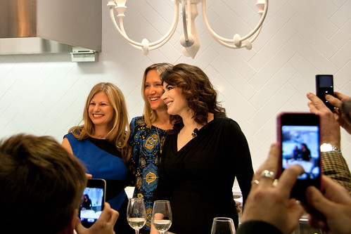 Nigella with Tara Tucker and Jane Francisco