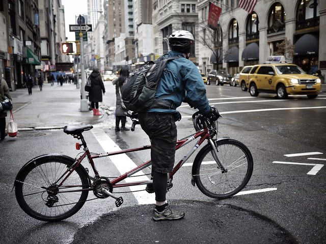 It would have been impressive if he had been cycling from the back #walkingtoworktoday