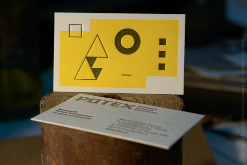 letterpress suprematic card