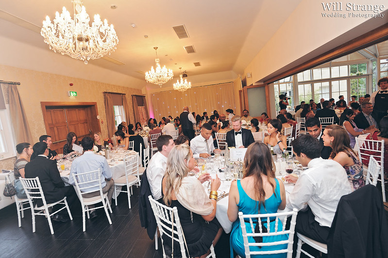 Guests dining at Botleys Mansion