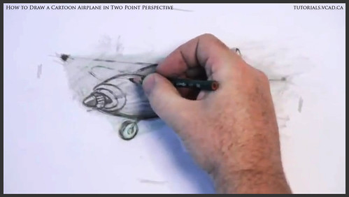 learn how to draw a cartoon airplane in two point perspective 032