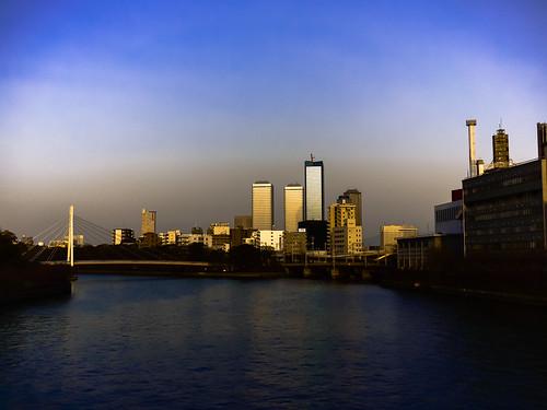 Sunset river ... Osaka,Japan