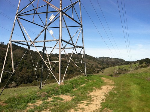 Redtail trail power lines