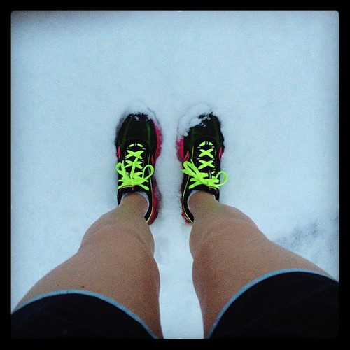 It was definitely a treadmill day this morning. #springsnow #fitfluential