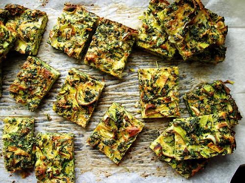 spinach leek parmesan egg bites
