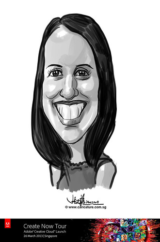 digital caricature for Adobe Create Now Tour - 8