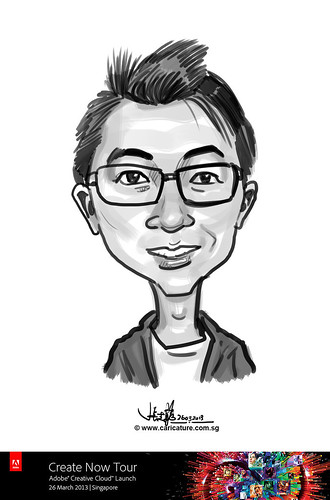 digital caricature for Adobe Create Now Tour - Andy Len