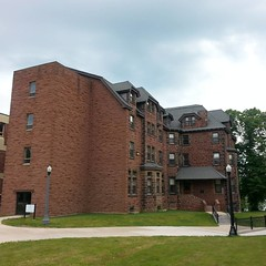 Taking a trip down memory lane for my father upon the campus of Mount Allison here I. Sackville today. He's not a graduate, but spent a year pounding the pavement here taking a few classes with my mother, and hasn't stopped talking about it since.  . . A