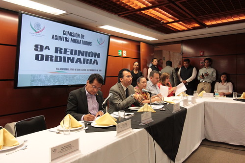 El día 21 de septiembre se llevó a cabo en la H. Cámara de Diputados la novena reunión ordinaria de la Comisión de Asuntos Migratorios.