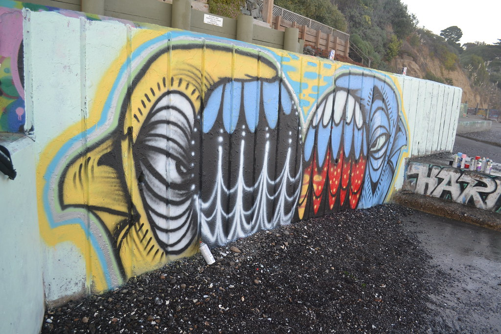 GHOST OWL, Graffiti, the yard, Northbay,