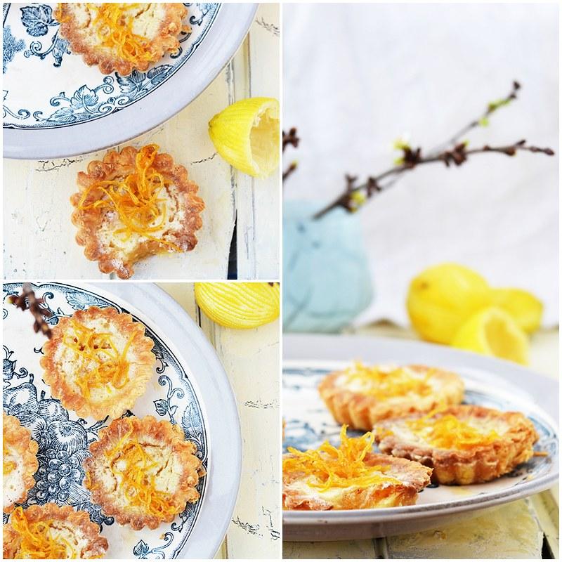 коллаж лимонных тарталеток