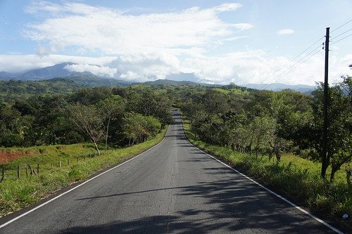road forest january hills panama 2013