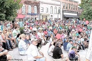 Sketch_Cartersville, GA., The Summer Concerts Series.