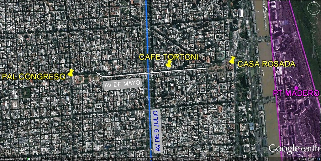 downtown Buenos Aires (via Google Earth)