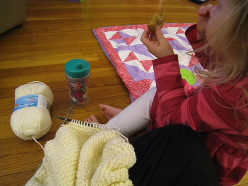Knitting & cookies!