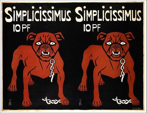 Thomas Theodor Heine, Simplicissimus 10PF, poster, 1896