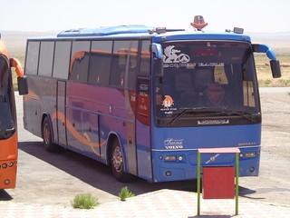 Autocarro azul desde Mashaad ate Teerao