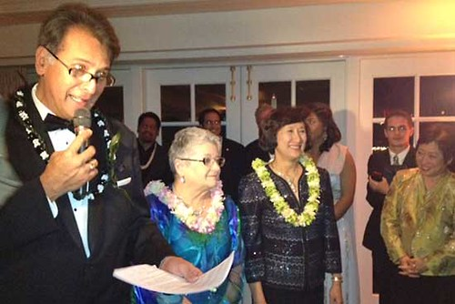 <p>University of Hawaii President M.R.C. Greenwood attended the Hawaii Inaugural Gala at the Hay Adams Hotel in Washington DC on January 19, 2013. The gala was a fundraiser for a possible Obama Center is Hawaii.</p>