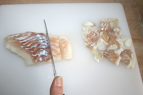 20 - Heilbutt zerteilen / Cut halibut