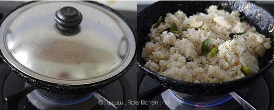 How to make rava upma step 5
