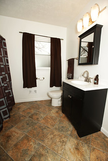 Updated bathroom in home for sale Louisville KY