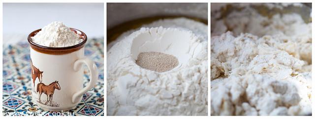 Приготовление теста на пирог с капустой