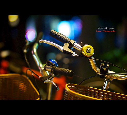 Bikes, Street, and the Night by © Crystal Dawn Photography