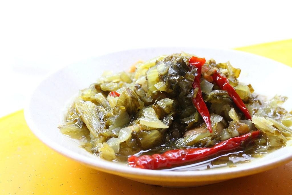 Leong Kee (Klang) Bak Kut Teh: salted vegetables